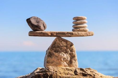 Afbeelding van stenen in balans